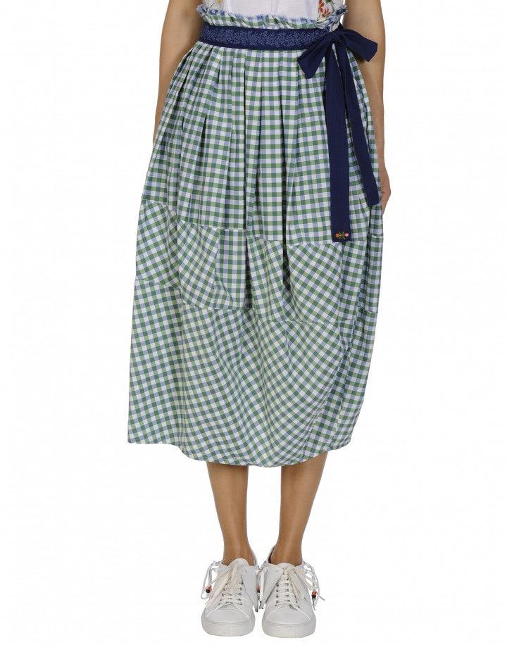 REFINE: Green gingham skirt