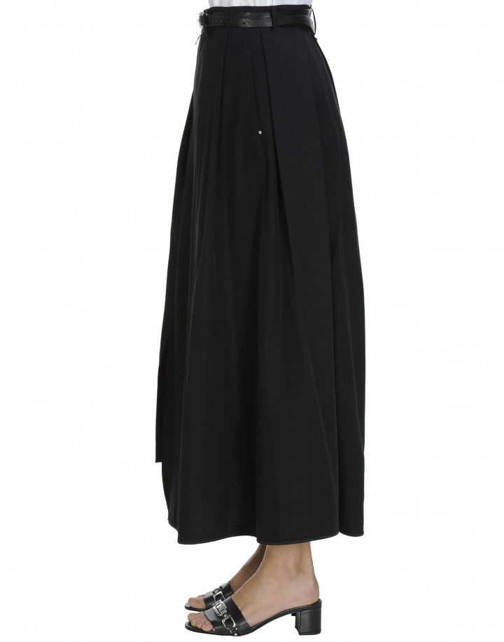 ELITE: Black Asymmetric hem skirt