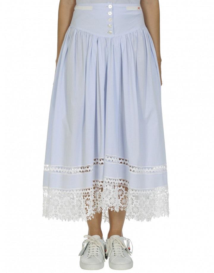 GRATITUDE: Lace hem full skirt