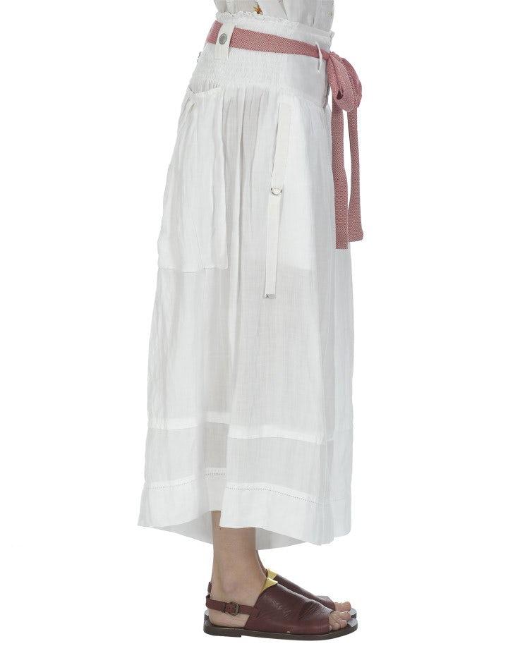 MINSTREL: Gonna a pantalone bianca a 3/4