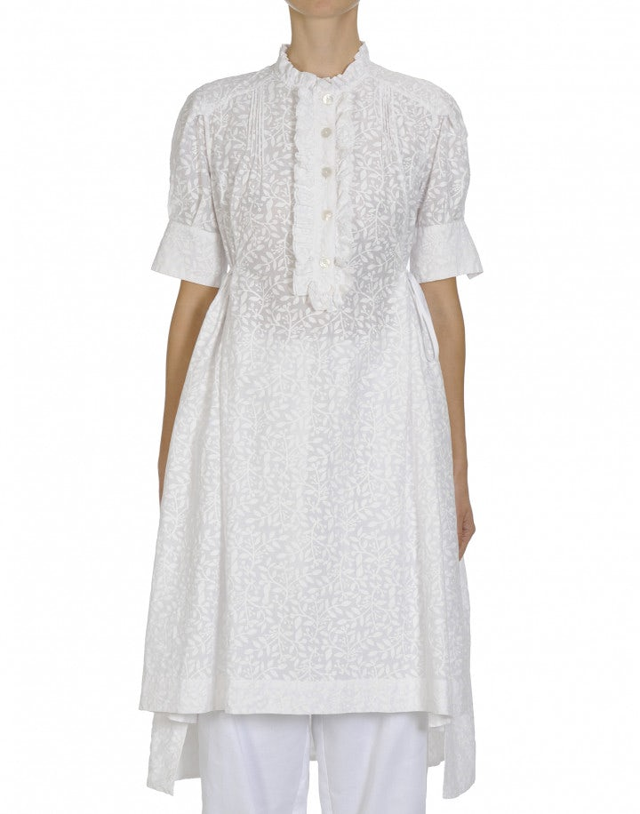 BEAUTIFY: Shirtwaist dress with frill front