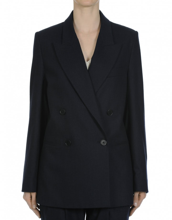 TACIT: Man's style jacket in navy flannel stripe