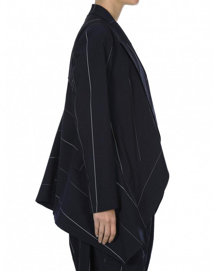 SWANKO: Giacca con drappeggio a cascata