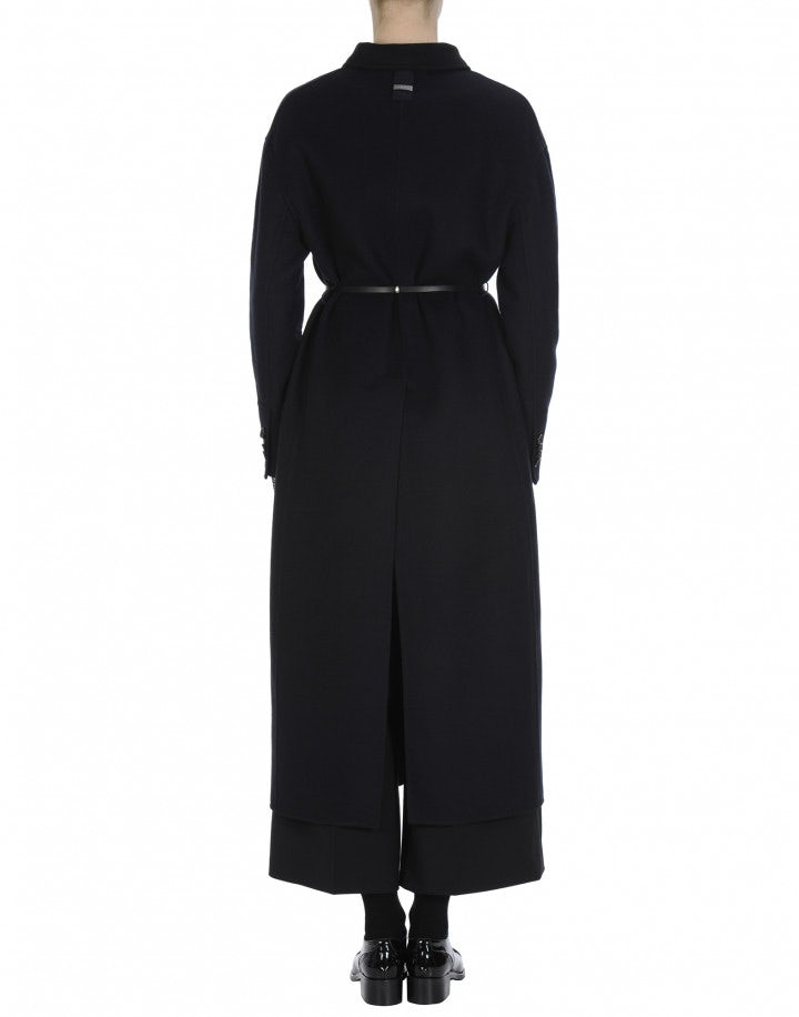 NARRATE: Midnight blue and black coat in cashmere