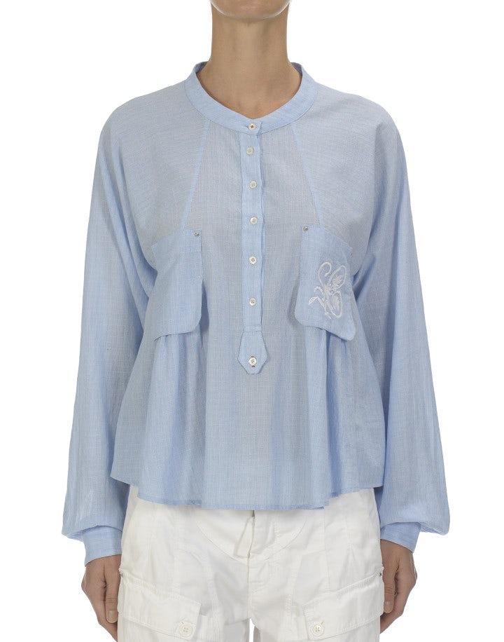 ETHOS: Camicia in cotone con ricamo