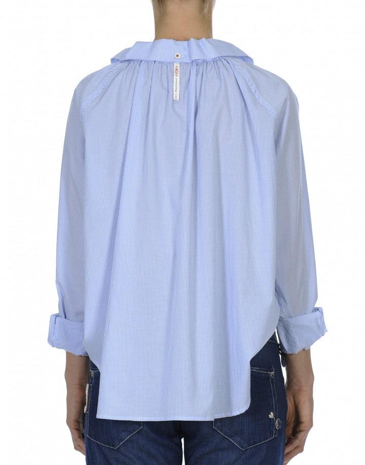 BACALL: Camicia rigata con maniche a raglan