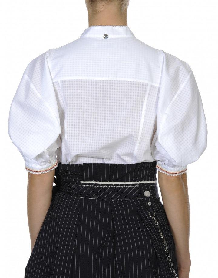 BELKON: Camicia con maniche corte a palloncino