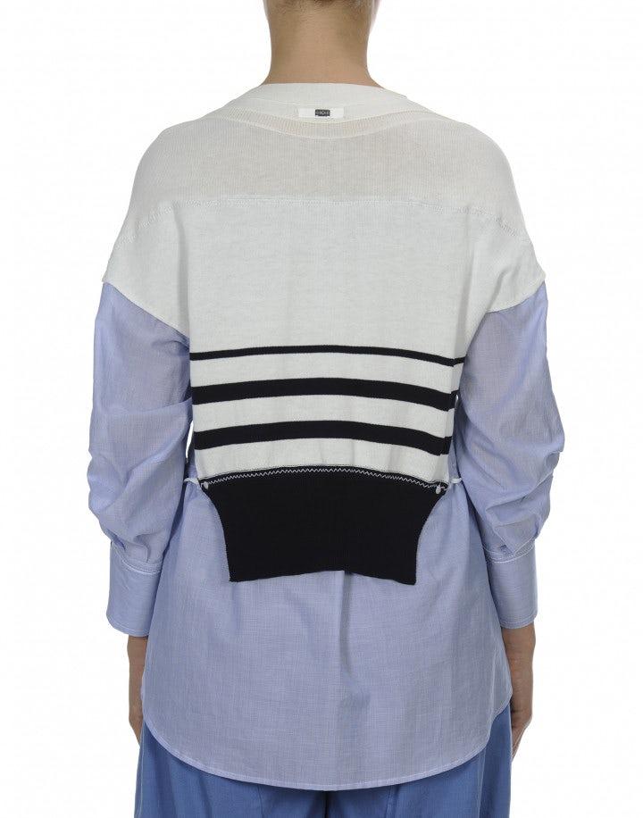 KICKBACK: Top in maglia con inserti in cotone