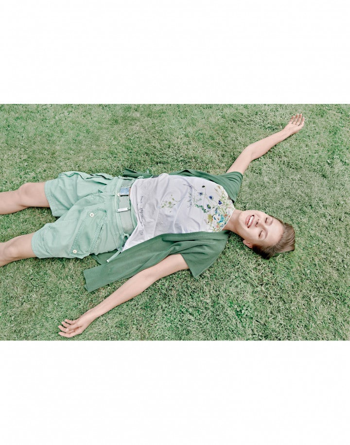 DECK: Gilet-cardigan in maglia verde