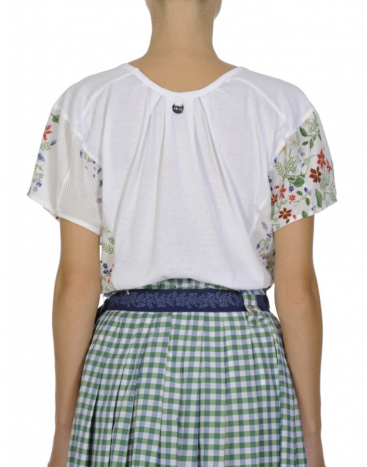 PLEASING: Cap sleeve top in plain and floral