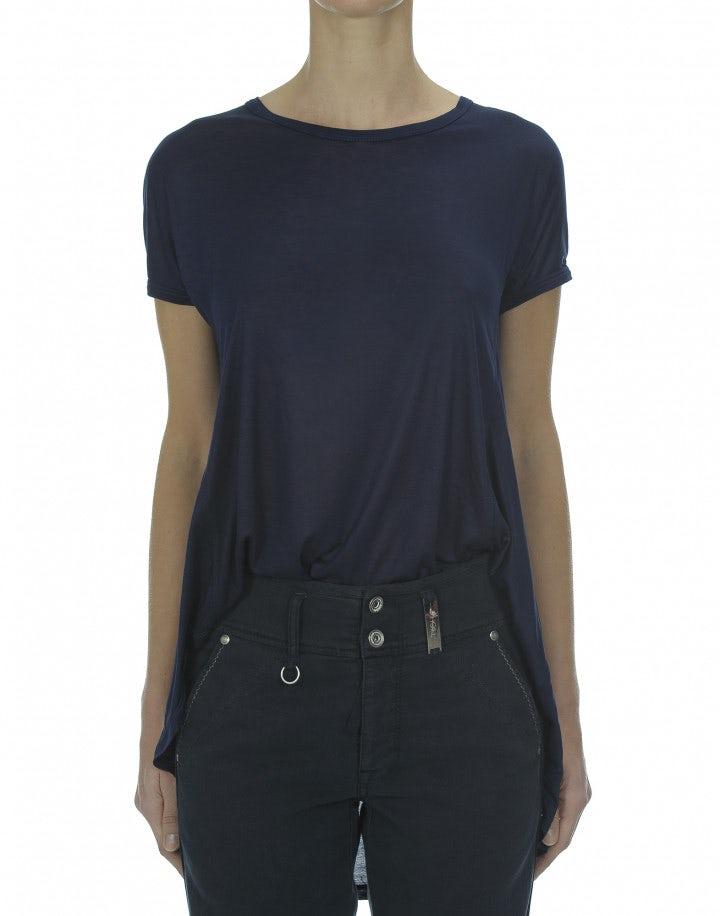 GUSH: T-shirt in jersey di viscosa, blu navy