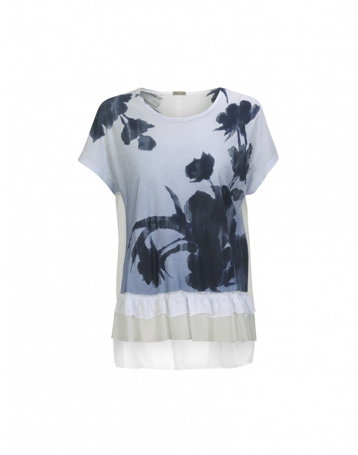 PRECIS: T-shirt con stampa floreale frontale