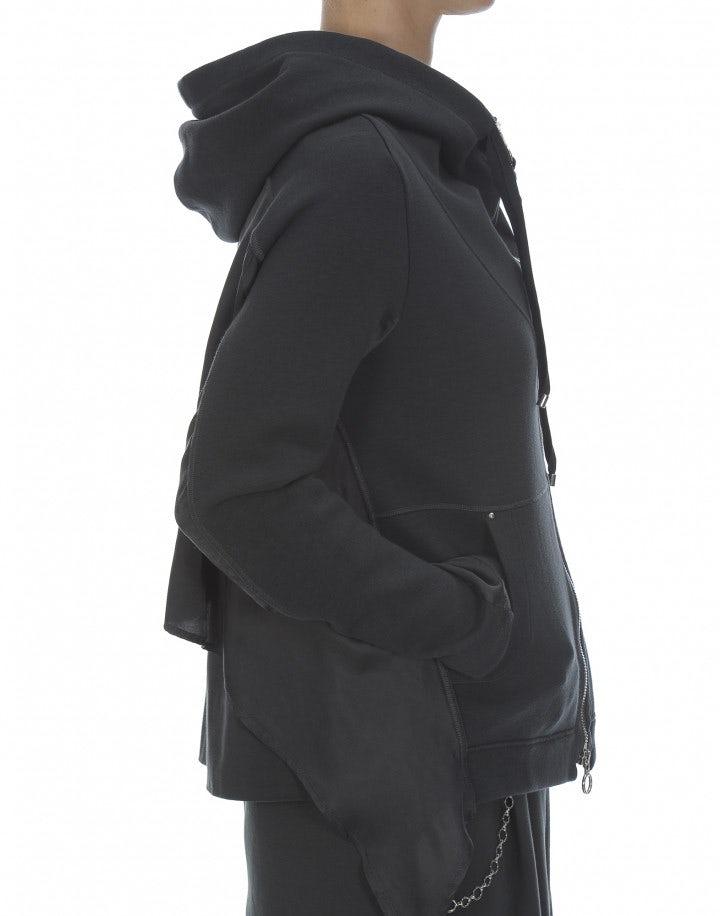 TOUCHLINE: Giacca con cappuccio in jersey