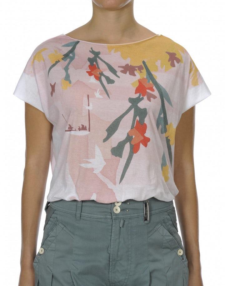 SERENE: T-shirt con scollatura a barchetta