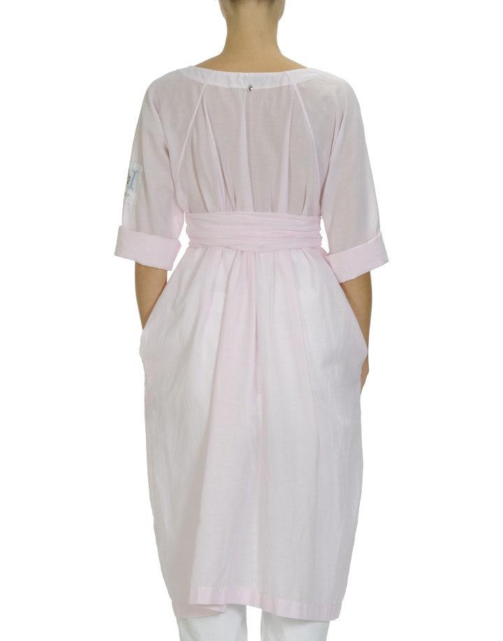 VIVID: Pink one button shirtwaist dress