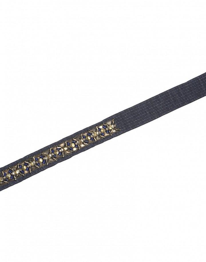 PARAMOUNT: Cintura annodabile con ricamo in tessuto