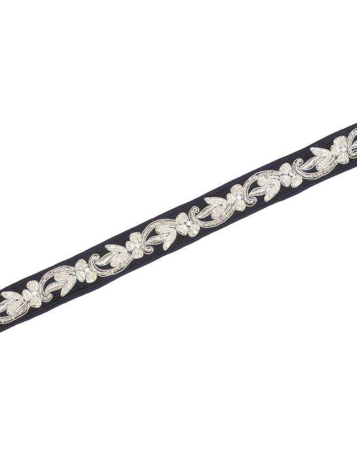 CHERISH: Cintura annodabile con ricami argento