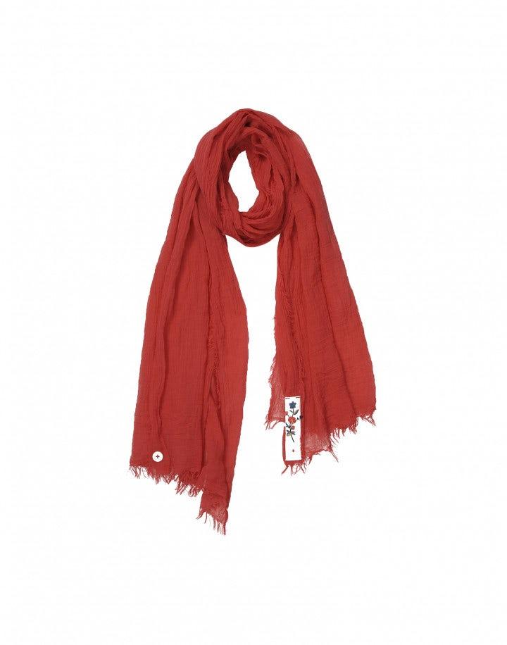 ARNICA: Sciarpa estiva in cotone rosso