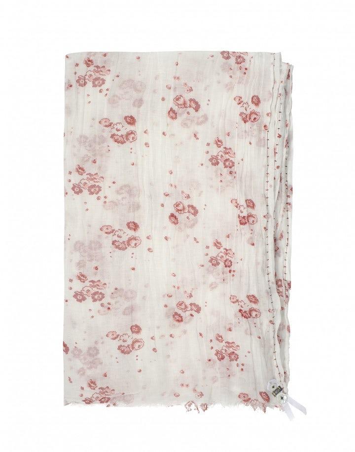 CHALET: Sciarpa in voile con stampa floreale Calypso, rossa