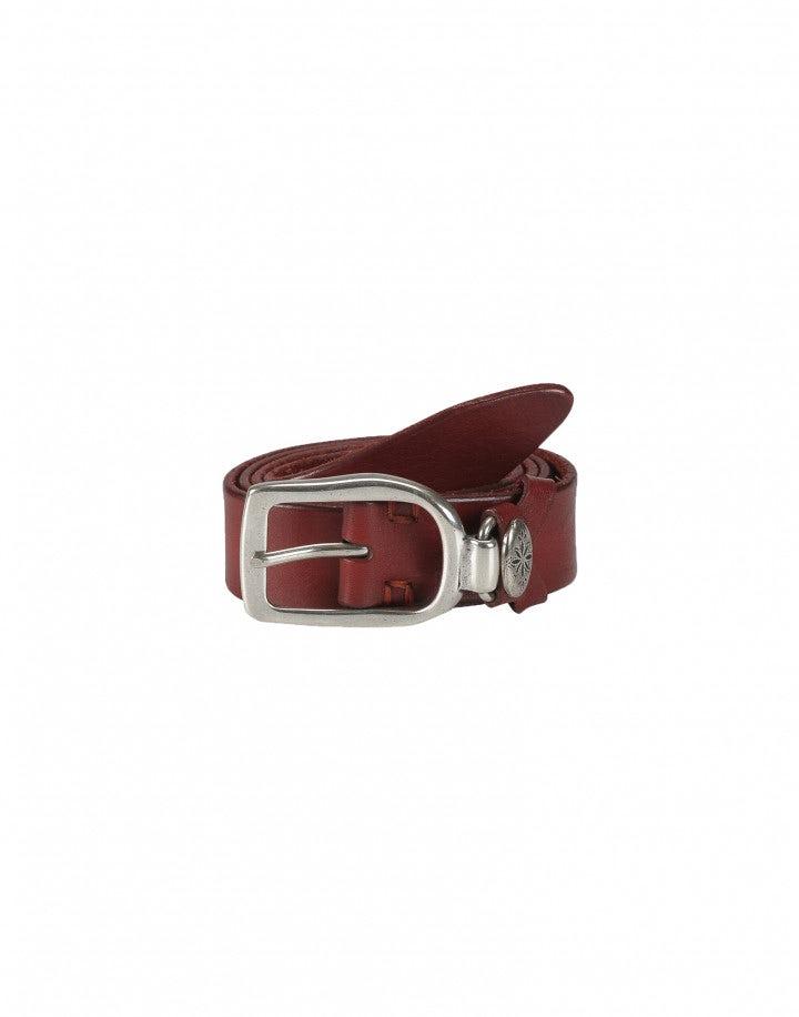 STRUP: Cintura rossa con passante in metallo