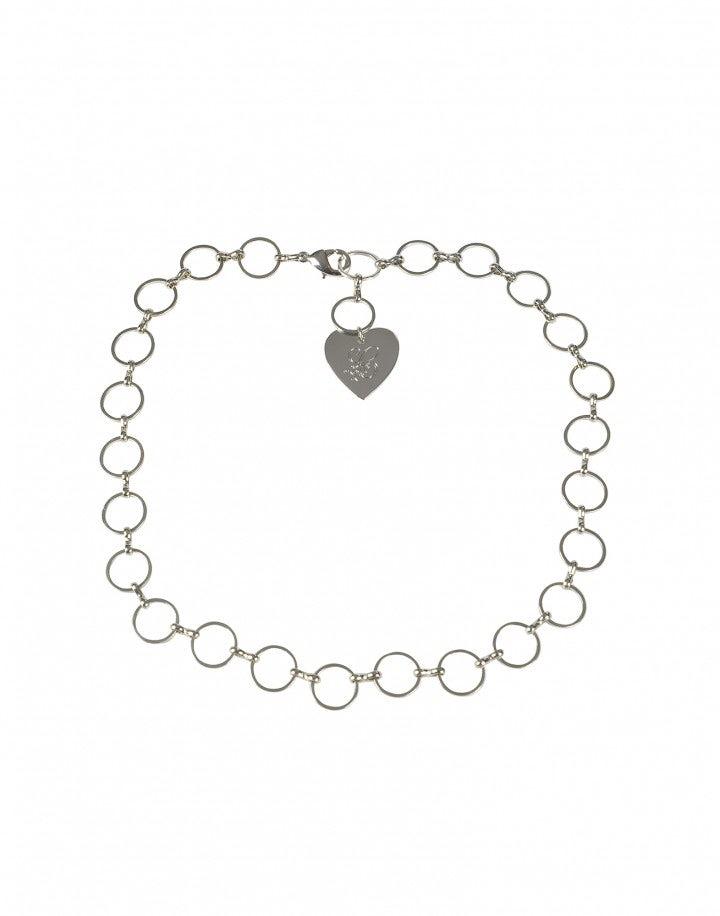 AMULET: Collana girocollo con catena anticata argento