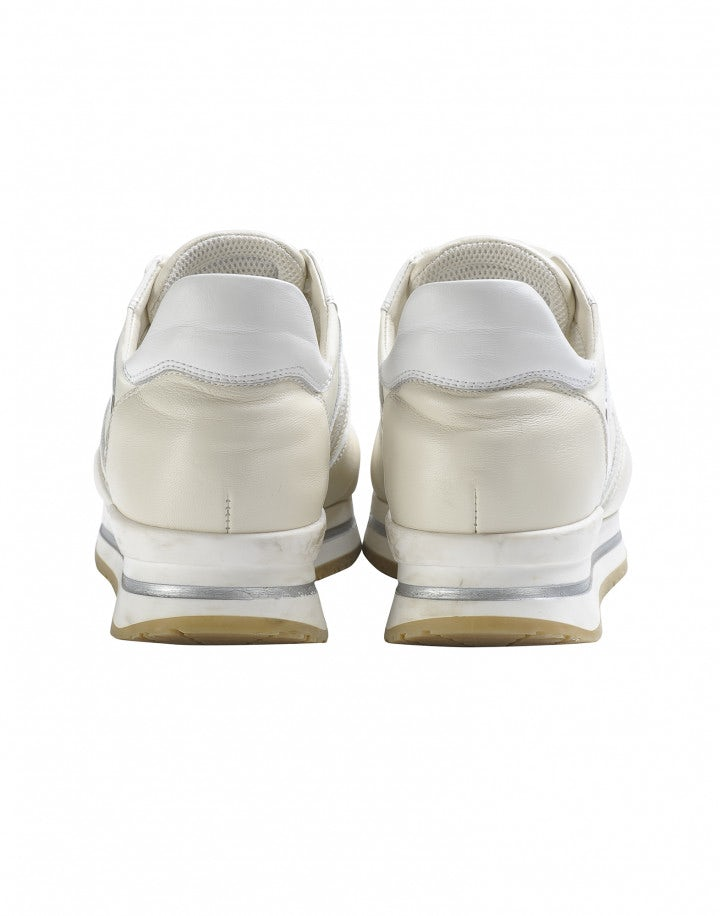 FRANTIC: Sneakers color crema in pelle lucida e opaca