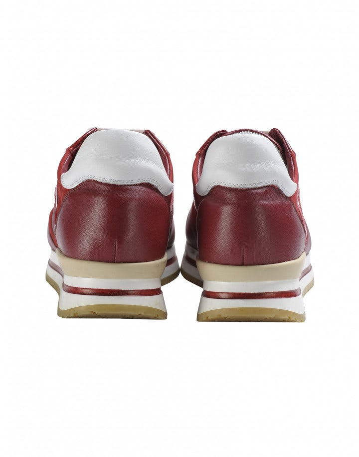 FRANTIC: Sneakers rosse in pelle lucida e opaca