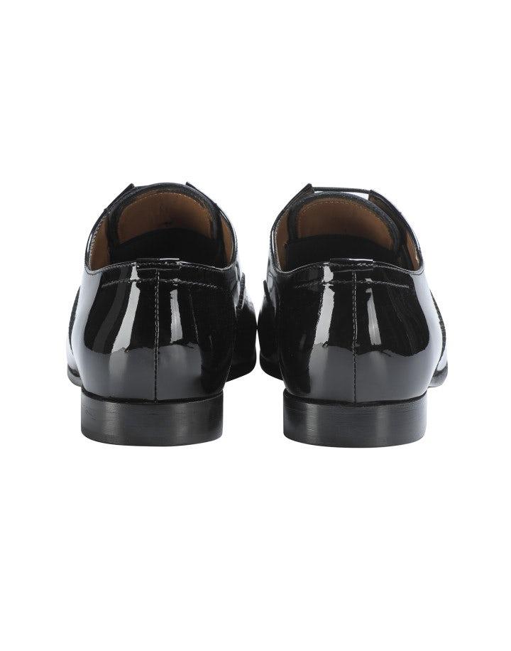 FOGEY: Scarpe stringate in pelle lucida nera