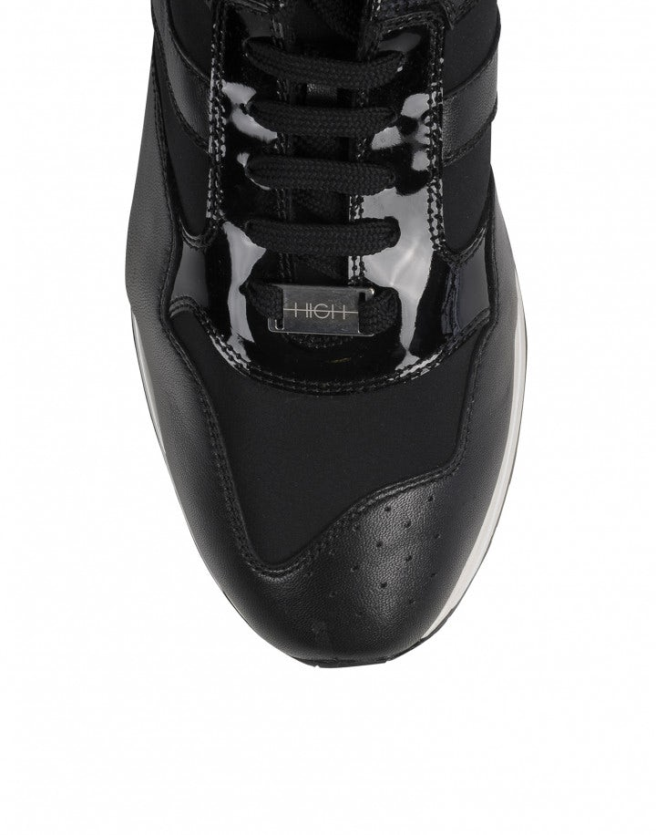 FRANTIC: Sneakers in vernice nera