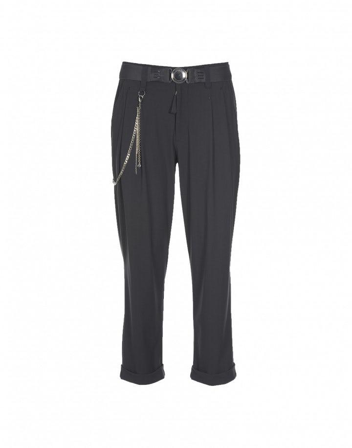 COURAGE: Pantaloni grigi con pieghe frontali