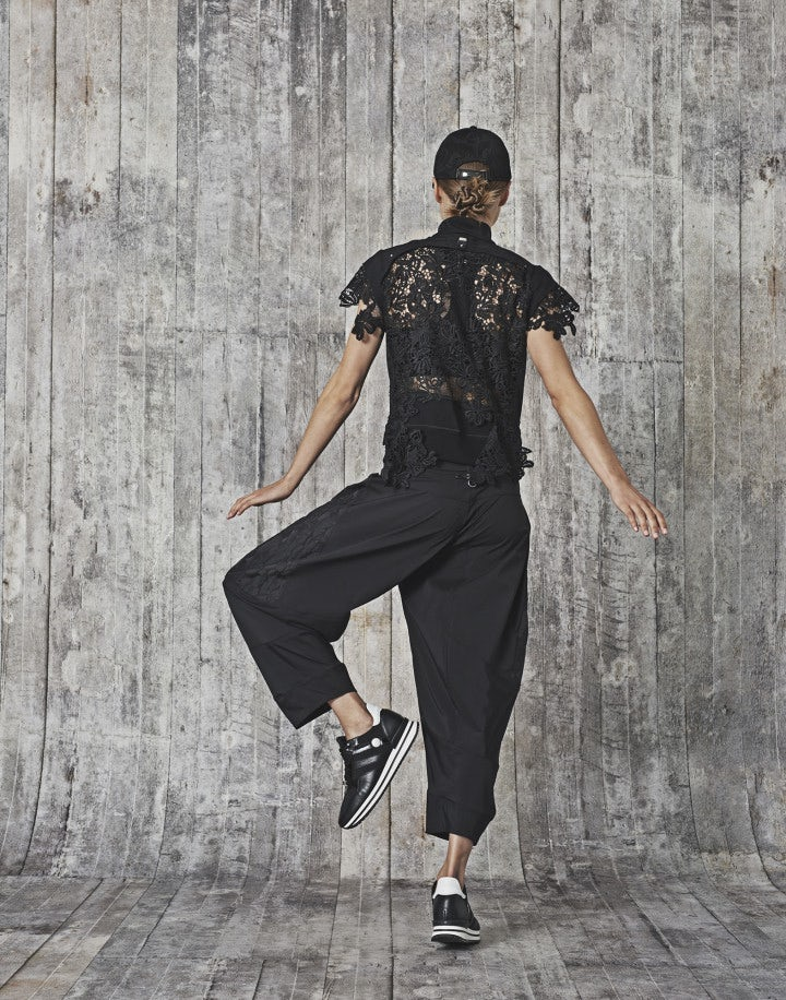DHOW: Pantaloni in taffetà tecnico, neri