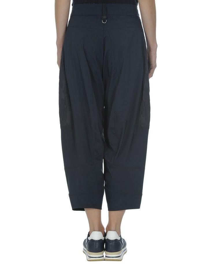 DHOW: Pantaloni in taffetà tecnico, blu