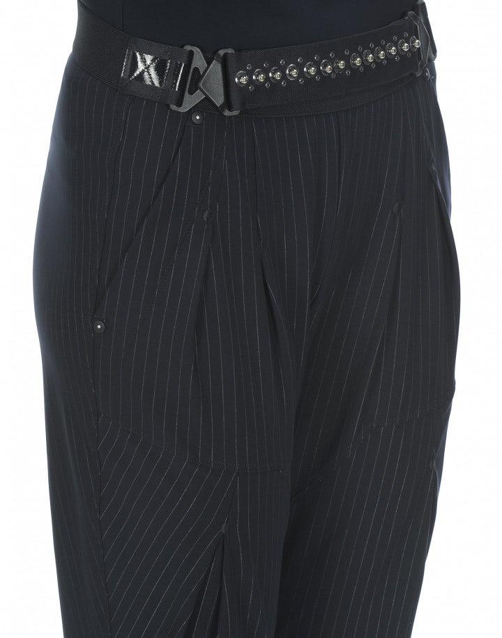 LURCH: Pantaloni gessati Jodhpur