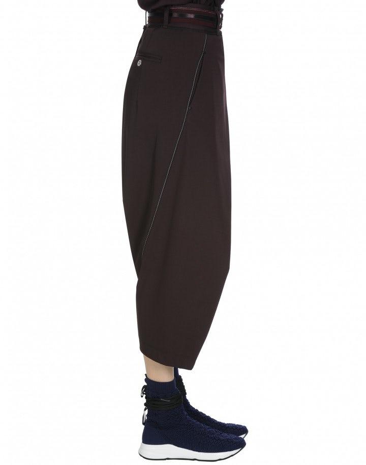 ENRAPTURE: Wrap-over side zip pants