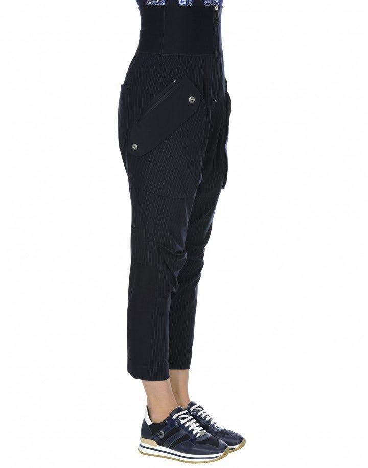 GAMBOL: Pantaloni gessati con tasche a filetto