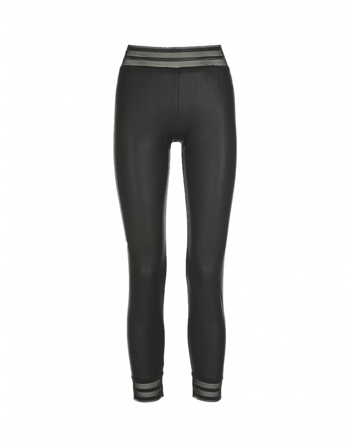 HALT: Leggings in ecopelle, neri