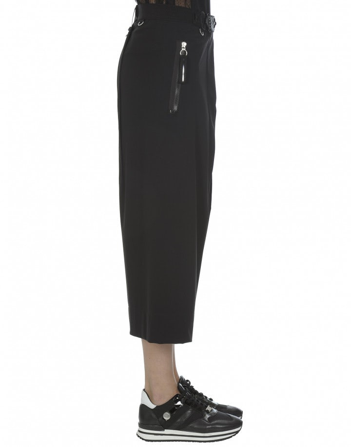 DITHER: Culottes con cavallo basso, nere