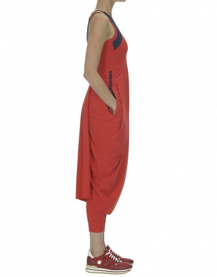 REHEARSE: Abito a tulipano in Sensitive® rosso bandiera