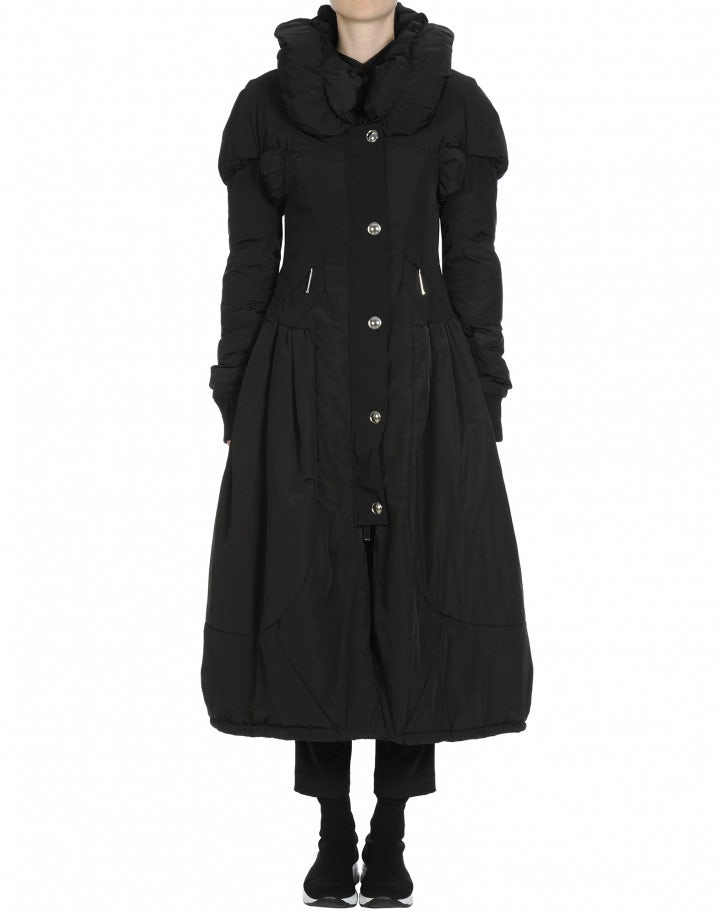 RESPOND: Black padded quilted coat