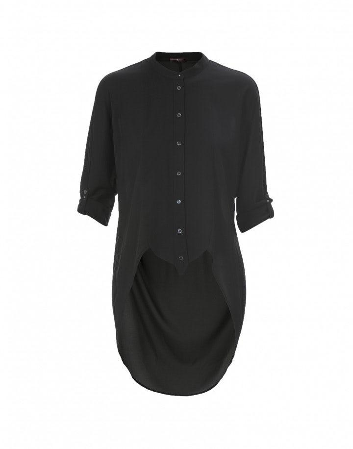 BIBELOT: Camicia in stile tuxedo, nera