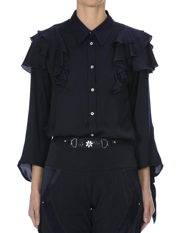 THRILL: Camicia con balze sulle spalle