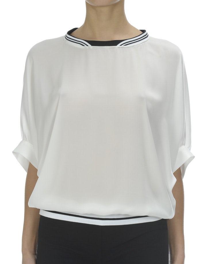 DULCE: Blusa con maniche dolman, crema