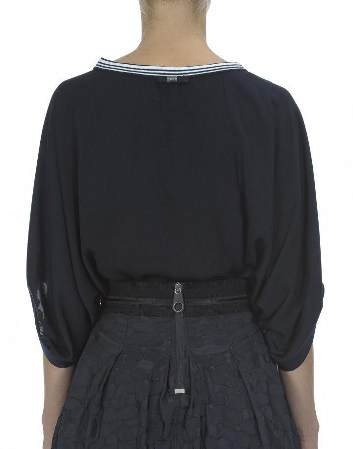 DULCE: Blusa con maniche dolman, navy scuro
