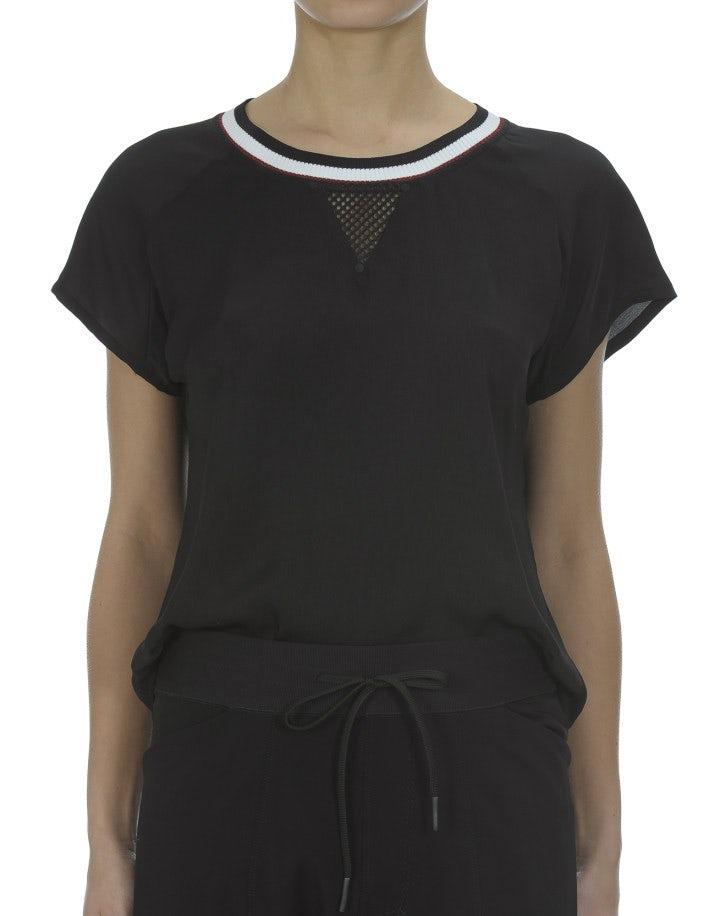QUARK: T-shirt leggera in tessuto tecnico, nera