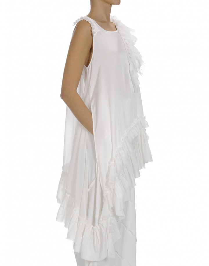 ACCOLADE: Long length top with ruched hem