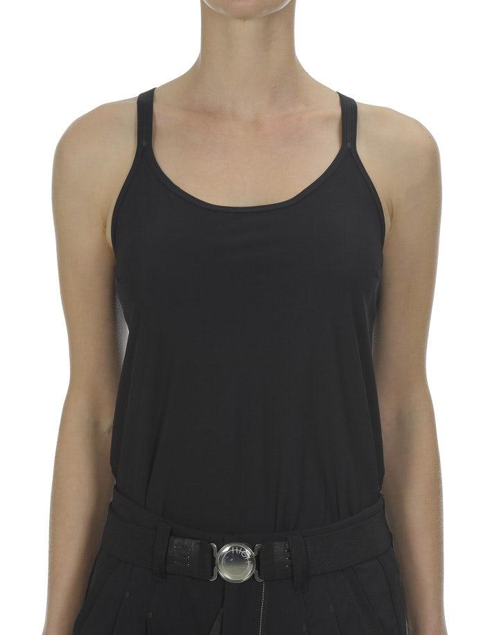 LOPE: Top con incrocio posteriore, nero