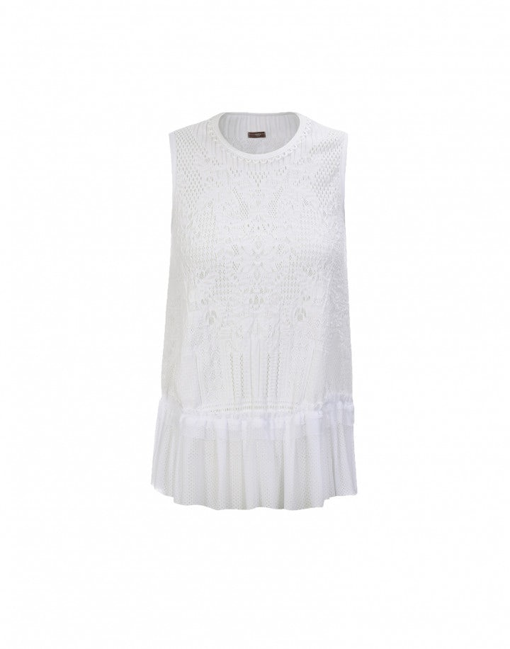 "FLAWLESS: Top ""feminine sporty"", bianco"