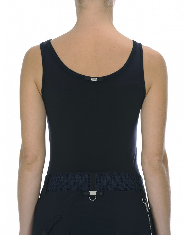 ION: Top canotta in jersey blu navy