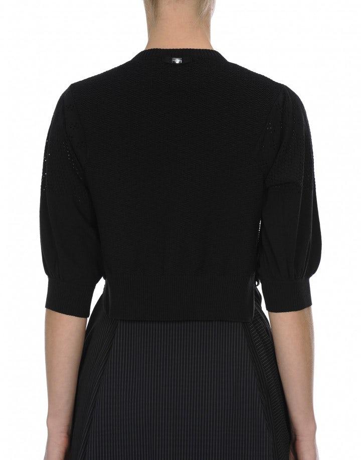 SAY-SO: Cardigan corto con zip in maglia tecnica
