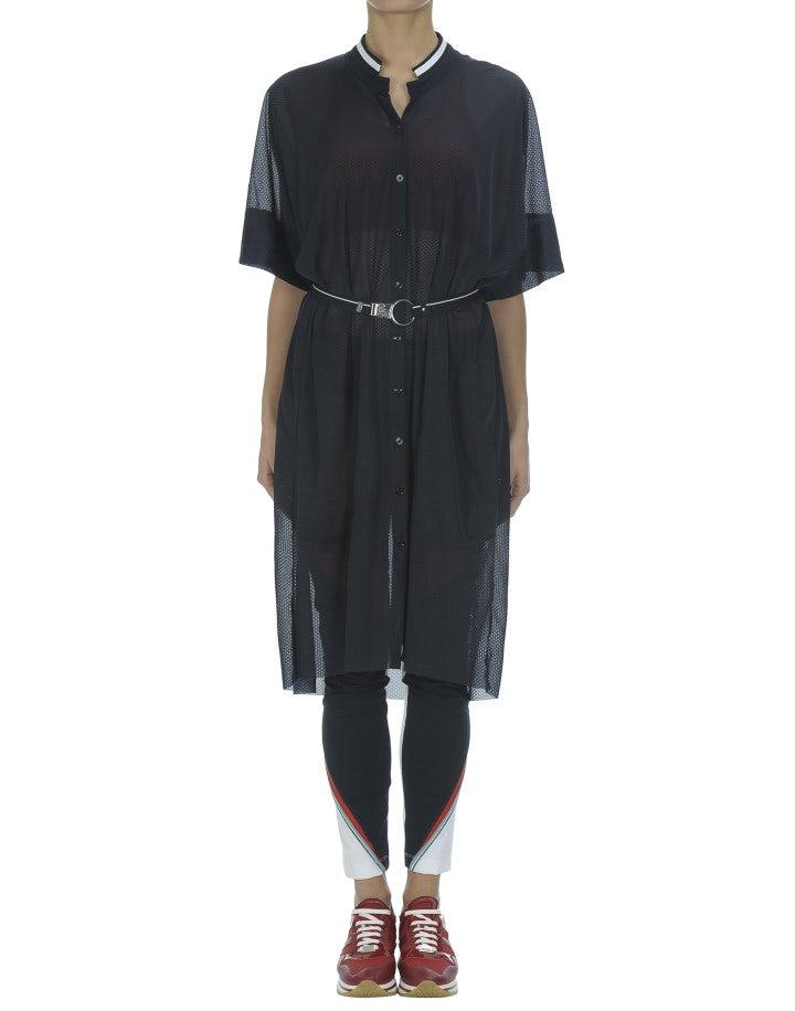 PHOTON: Abito-camicia oversize, blu navy